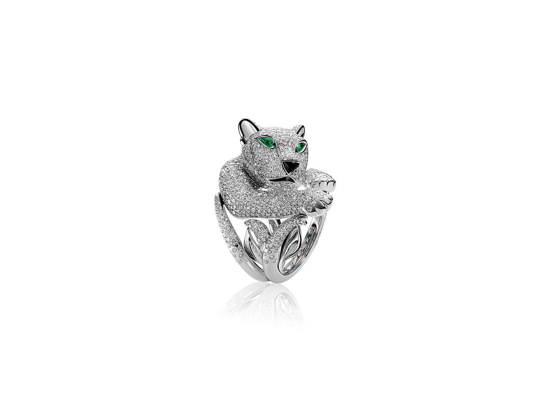 Anillo pantera de diamantes