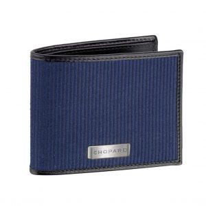 Billetera Chopard Il Classico Mini en Tela y Cuero - Azul/Negro