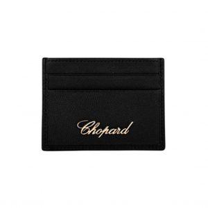 Porta Documentos Chopard Miss Happy en Cuero Negro