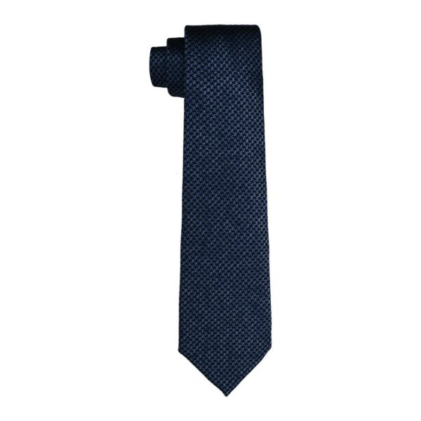 Corbata Chopard de Jacquard - Houndstooth Azul