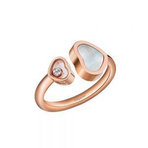 Anillo Chopard Happy Hearts oro rosa, madreperla y diamante
