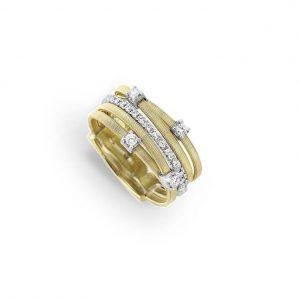 Anillo Marco Bicego Goa y Massai Oro Amarillo y diamantes