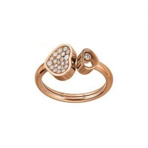 Anillo Chopard Happy Hearts oro rosa y diamantes