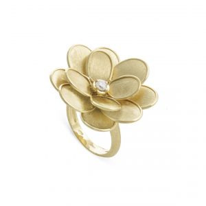 Anillo Marco Bicego Lunaria Petali Oro Amarillo y diamante
