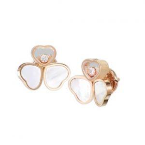 Topos Chopard Happy Hearts oro rosa, madreperla y diamantes