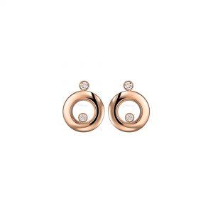 Aretes Chopard Happy Diamonds oro rosa y diamantes