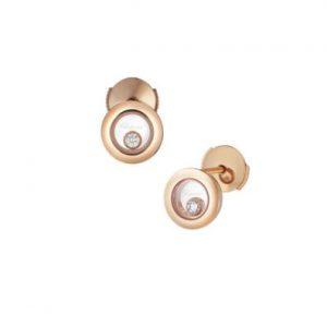 Topos Chopard Happy Diamonds oro rosa y diamantes