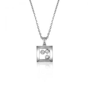 Collar Chopard Happy Diamonds oro blanco y diamantes