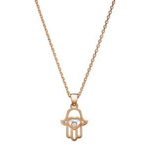 Collar Chopard Happy Diamonds oro rosa y diamante