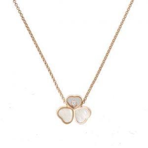 Collar Chopard Happy Hearts oro rosa, madreperla y diamante