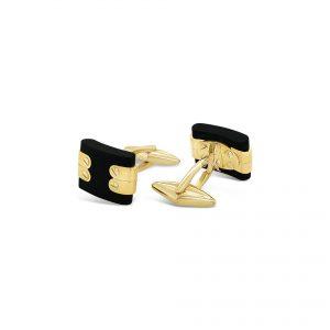 Macornas Oro Amarillo y Piedra Negra