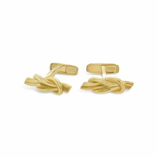 Mancornas Nudo Cuadrado Oro Amarillo