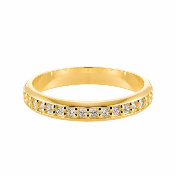 Argolla con Diamantes Amarilla