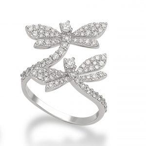 MIMI Anillo Libela Oro Blanco y Diamantes