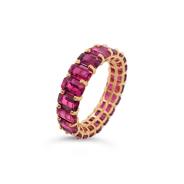 Anillo Bauer Rubíes oro rosa 18k y rubíes