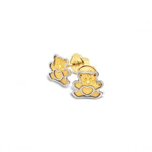 Topos Bebé / Niña Ositos Oro Amarillo y Blanco - mariposas atornilladas