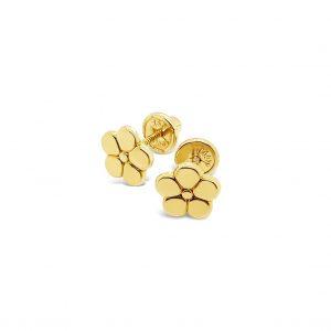 Topos Bebé / Niña Flor Oro Amarillo - mariposa atornillada