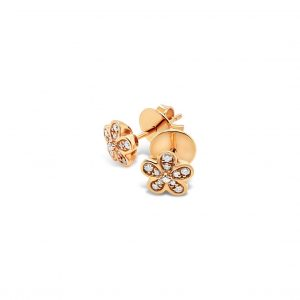 Topos Flores Oro Rosa con Diamantes