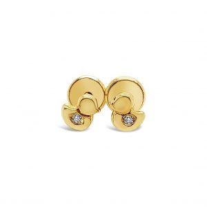 Topos Bebé / Niña Paticos Diamantes y Oro Amarillo - mariposa atornillada