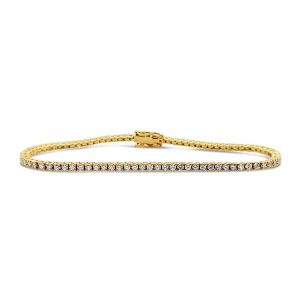 Pulsera tennis de diamantes - oro amarillo
