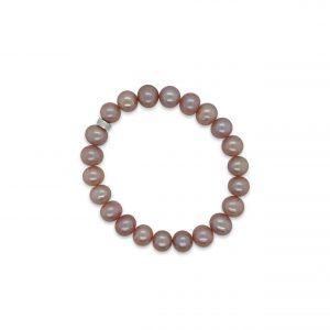 MIMI Pulsera Elastica Perlas Violeta