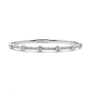 Aro flexible diamantes y oro blanco