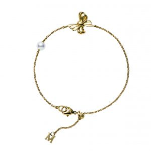 Pulsera Mikimoto Perla Akoya, Oro Amarillo 18k y diamantes