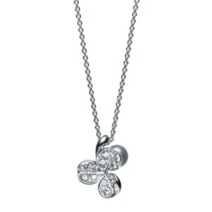 Collar Mikimoto Perlas Akoya oro blanco 18k y diamantes