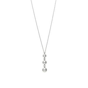 Collar Mikimoto Perlas Akoya, Oro blanco 18k y diamantes