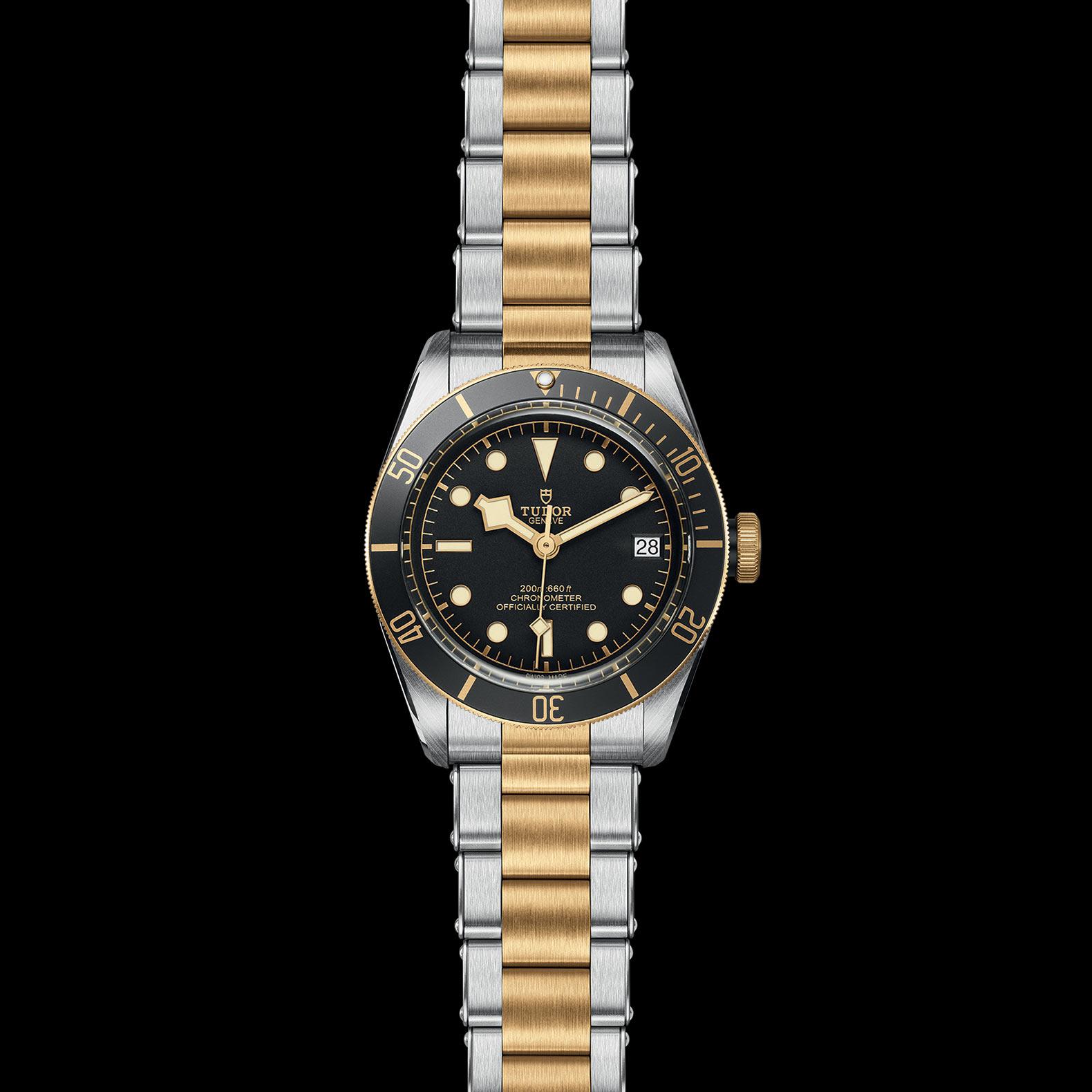 Reloj Tudor Black Bay Date S&G Automático en acero y oro amarillo 18k. Esfera negra e indicador de fecha.